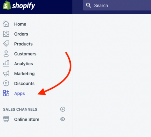 Click the Shopify Apps link